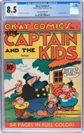 Golden Age (1938-1955):Cartoon Character, Okay Comics #1 Mile High Pedigree (United Feature Syndicate, 1940) CGC VF+ 8.5 White pages....