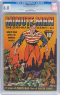 Golden Age (1938-1955):Superhero, Minute Man #2 (Fawcett Publications, 1941) CGC FN 6.0 Off-white to white pages....