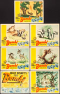 "Movie Posters:Animation, Bambi (RKO, 1942). Title Lobby Card & Lobby Cards (6) (11"" X 14""). Animation.. ... (Total: 7 Items)"