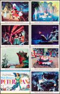 "Movie Posters:Animation, Peter Pan (RKO, 1953). Lobby Card Set of 8 (11"" X 14""). Animation..... (Total: 8 Items)"