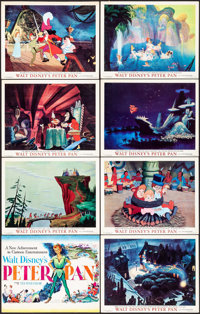 """Peter Pan (RKO, 1953). Lobby Card Set of 8 (11"""" X 14""""). Animation. ... (Total: 8 Items)"""