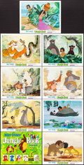 """Movie Posters:Animation, The Jungle Book (Buena Vista, 1967). Lobby Card Set of 9 (11"""" X14""""). Animation.. ... (Total: 9 Items)"""