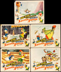 "Movie Posters:Animation, Saludos Amigos (RKO, 1942). Fine/Very Fine. Lobby Cards (5) (11"" X 14""). Animation.. ... (Total: 5 Items)"