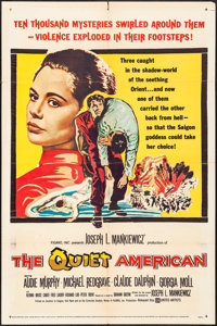 "The Quiet American & Others Lot (United Artists, 1958). One Sheets (5) (27"" X 41""), Title Lobby Card &..."