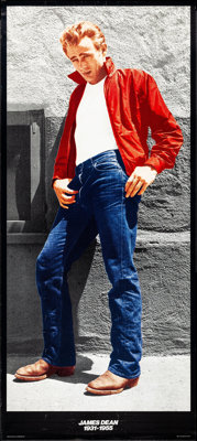 """James Dean in Rebel Without a Cause (The James Dean Foundation, 1985). Life-Sized Poster (33.75"""" X 76""""). Misce..."""