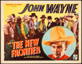 "Movie Posters:Western, The New Frontier (Republic, 1935). Title Lobby Card (11"" X 14"").Western.. ..."