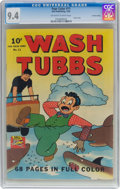 Golden Age (1938-1955):Adventure, Four Color #11 Wash Tubbs - Central Valley Pedigree (Dell, 1942) CGC NM 9.4 Off-white to white pages....