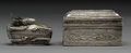 Other, Two Southeast Asian Silver Boxes. 2 x 3-3/8 x 1-3/4 inches (5.1 x 8.6 x 4.4 cm) (larger). 5.10 troy ounces. ... (Total: 2 Items)