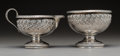 Silver Holloware, American:Creamers and Sugars, A Gorham Silver Sugar Bowl and Creamer, Providence, Rhode Island, circa 1889. Marks: (lion-anchor-G), COPYRIGHTED 1889, 0,... (Total: 2 Items)