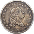 Early Half Dollars, 1795 50C 2 Leaves, Y Over Star, O-121, T-2, High R.4 -- Cleaned --PCGS Genuine. XF Details....