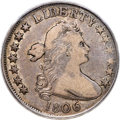 Early Half Dollars, 1806 50C 6 Over Inverted 6, O-111'b', T-11, R.7, VF20 PCGS....
