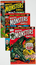 Silver Age (1956-1969):Horror, Where Monsters Dwell Group of 6 (Marvel, 1971-74) Condition:Average VF.... (Total: 6 )