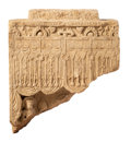 Asian:Chinese, A Large Chinese Carved Votive Stone Stele Fragment, Possibly WeiDynasty. 22-3/4 h x 20 w x 7-1/2 d inches (57.8 x 50.8 x 19...