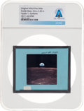 "Explorers:Space Exploration, Apollo 11 Original NASA Glass Slide, an ""Earthrise"" Image, Directly From The Armstrong Family Collection™, Certified and E..."