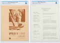 """Explorers:Space Exploration, Apollo 11: NASA """"Lunar Landing"""" Informational Brochure and """"Cocoa Beach Guest Center Schedule of Events"""" for July 11-16, 1969,... (Total: 2 Items)"""
