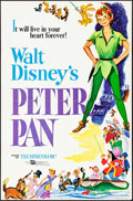 """Movie Posters:Animation, Peter Pan (Buena Vista, R-1960s to 1970s). One Sheet (27"""" X 41""""),Lobby Cards (4) (11"""" X 14""""), & French Color Photo Set of 9...(Total: 14 Items)"""