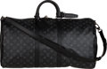 Luxury Accessories:Travel/Trunks, Louis Vuitton Monogram Eclipse Coated Canvas Keepall Bando...