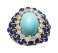 Estate Jewelry:Rings, Diamond, Turquoise, Lapis Lazuli, Gold Ring, La Triomphe. ...