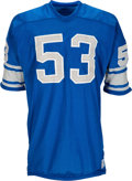 Football Collectibles:Uniforms, 1972 Mike Lucci Game Worn Detroit Lions Jersey....
