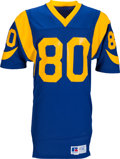 Football Collectibles:Uniforms, 1980's Henry Ellard Game Worn & Signed Los Angeles Rams Jersey. ...