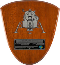 Apollo 11 Lunar Module Flown Spacecraft Identification Plate Display Directly From The Armstrong Family Collection™, Cer...