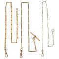 Estate Jewelry:Watches, Gold Watch Chains. ... (Total: 3 Items)