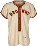 Baseball Collectibles:Uniforms, 1945 Len Schulte Game Worn St. Louis Browns Jersey & Pants....
