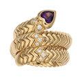 Estate Jewelry:Rings, Amethyst, Diamond, Gold Ring, Bvlgari The S...