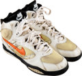 Football Collectibles:Others, 1994 Dan Marino Game Worn Miami Dolphins Turf Shoes. ... (Total: 2 items)