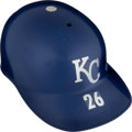 Baseball Collectibles:Others, 1972 Amos Otis Game Worn Kansas City Royals Batting Helmet from The Greg Stiegler Royals Bat Boy Collection. . ...