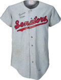 Baseball Collectibles:Uniforms, 1970 Bernie Allen Game Worn & Signed Washington Senators Jersey....