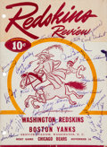 Football Collectibles:Others, 1945 Washington Redskins Team Signed Program Cover....