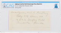 Navy Midshipman Neil A. Armstrong's Handwritten Quarters' Address at Saufley Field, circa 1950, Directly From The
