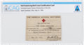 Explorers:Space Exploration, Neil Armstrong's 1943 Red Cross First Aid Instruction Card Directly From The Armstrong Family Collection™, Certified and Encap...