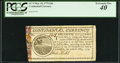 Colonial Notes:Continental Congress Issues, Continental Currency May 10, 1775 $20 PCGS Extremely Fine 40.. ...