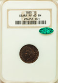 Proof Indian Cents: , 1885 1C PR65 Brown NGC. CAC. NGC Census: (92/69). PCGS Population: (72/125). CDN: $325 Whsle. Bid for problem-free NGC/PCGS...