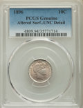 Barber Dimes, 1896 10C -- Altered Surface -- PCGS Genuine. Unc Details. NGC Census: (0/106). PCGS Population: (3/134). CDN: $120 Whsle. B...