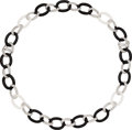Estate Jewelry:Necklaces, Diamond, Rock Crystal Quartz, Black Onyx, White Gold Convertible Necklace, Eli Frei. ...