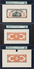 Canadian Currency, Hamilton, ON-Bank of Hamilton $10 1.3.1922 Ch. #345-22-04FP and Ch. #345-22-04BP Front and Back Proofs.. ... (Total: 3 notes)