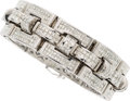 Estate Jewelry:Bracelets, Gentleman's Diamond, White Gold Bracelet. ...