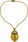 Estate Jewelry:Necklaces, Diamond, Gold Pendant-Necklace, Kieselstein-Cord. ...