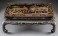 Asian:Chinese, A Chinese Lacquered and Mother-of-Pearl Inlaid Hardwood LowScholar's Table, late Qing Dynasty. 9 x 22-1/2 x 14-1/2 inches (...