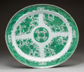 Asian:Chinese, A Pair of Chinese Export-Style Porcelain Platters After the Fitzhugh Pattern, 20th century. 17-1/2 x 20-1/8 inches (44.5 x 5... (Total: 2 Items)