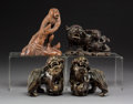 Asian:Chinese, Four Chinese and Japanese Carved Wood Animal Figures. 6 inches(15.2 cm) (tallest). ... (Total: 4 Items)