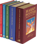 Books:Science Fiction & Fantasy, J. K. Rowling. Set of Five Deluxe-Issue Harry Potter Books...
