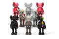 Fine Art - Sculpture, American:Contemporary (1950 to present), KAWS (b. 1974). Companion, set of eight, 2016. Painted cast vinyl. 10-1/2 x 4-1/2 x 2-1/2 inches (26.7 x 11.4 x 6.4 cm) ... (Total: 8 Items)