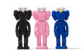 Collectible, KAWS (b. 1974). BFF Companion, set of three, 2018. Painted cast vinyl. 13-1/8 x 5-5/8 x 3 inches (33.3 x 14.3 x 7.6 cm) ... (Total: 3 Items)