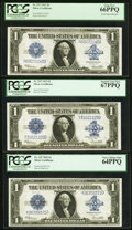Large Size:Silver Certificates, Fr. 237 $1 1923 Silver Certificates Block Septet.. ... (Total: 7notes)
