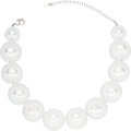 "Luxury Accessories:Accessories, Chanel Pearl and Acrylic Beaded Necklace. Condition: 1. 18"" Length. ..."