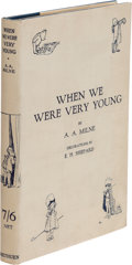 Books:Children's Books, A. A. Milne. When We Were Very Young. London: Methuen & Co., [1924]. First edition, second state of the contents lea...